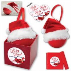 Art. 1377 Pallina di Natale con Cappello Santa Claus