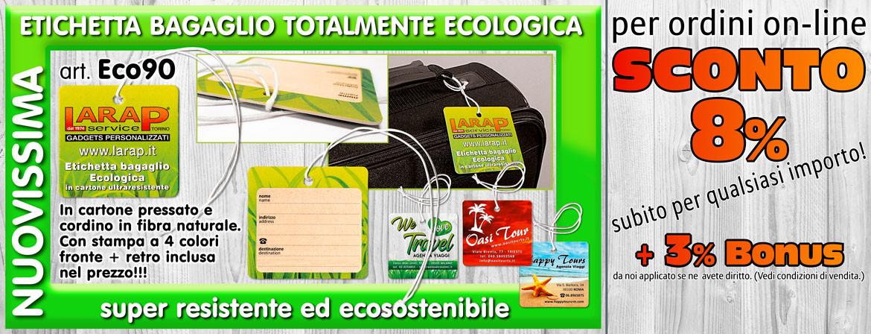 Etichetta bagaglio Green personalizzata