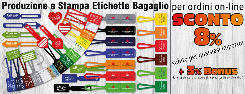 Targette valigie personalizzate